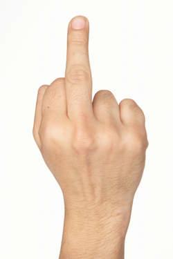 juste un doigt !